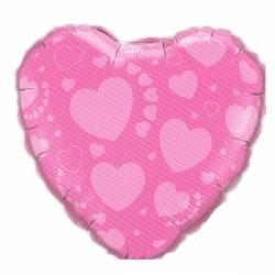 Valentijn Helium Ballon Roze met Hartjes